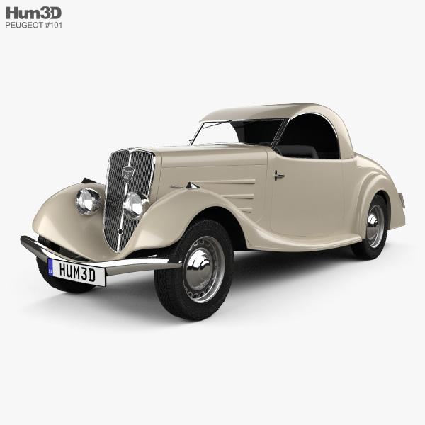 Peugeot 401 Eclipse 1934 3D model