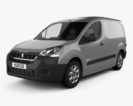 3D model of Peugeot Partner Van 2015