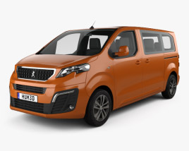 3D model of Peugeot Traveller Allure 2016