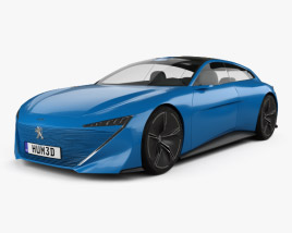 3D model of Peugeot Instinct 2017