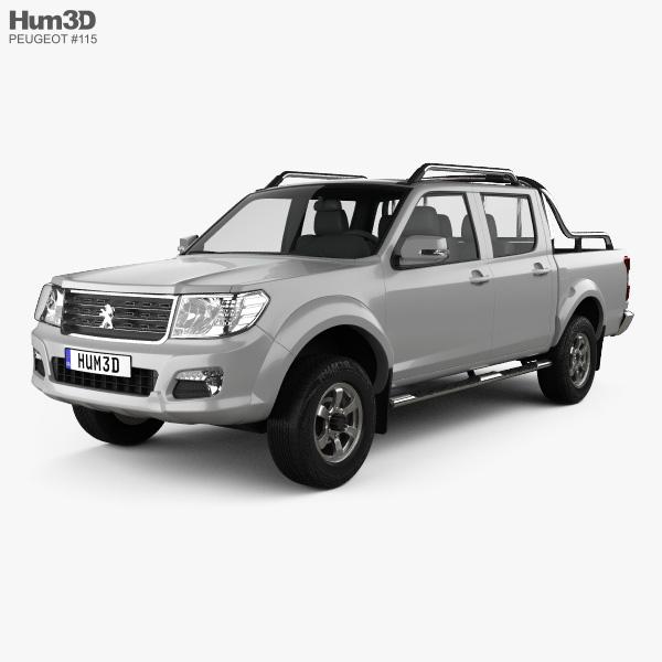 Peugeot Pick Up 4x4 2017 3D model