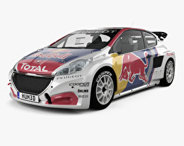 3D model of Peugeot 208 WRX 2018
