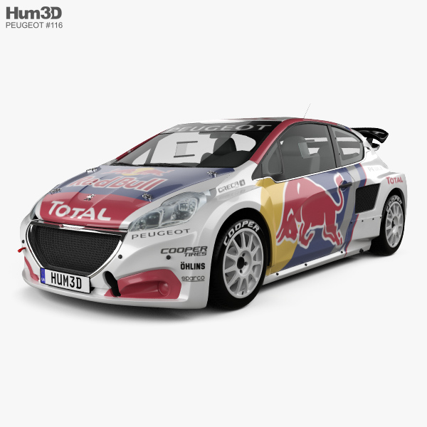 Peugeot 208 WRX 2018 3D model