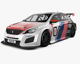 3D model of Peugeot 308 TCR 2018