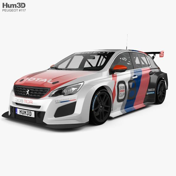 Peugeot 308 TCR 2018 3D model
