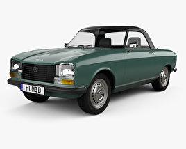 3D model of Peugeot 304 convertible 1970