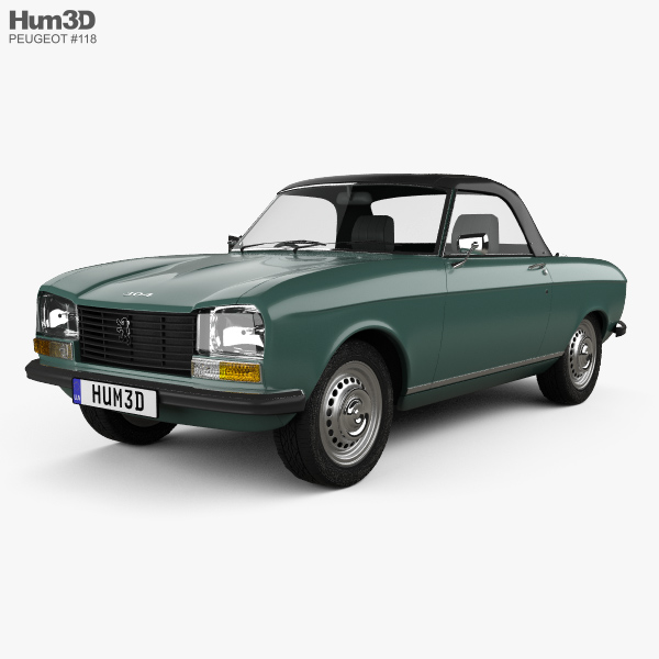 Peugeot 304 convertible 1970 3D model