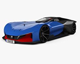 3D model of Peugeot L500 R Hybrid 2017