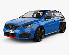 3D model of Peugeot 308 GTi hatchback 2017