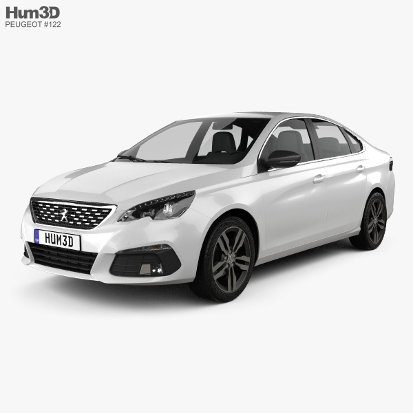 3D model of Peugeot 308 sedan 2017