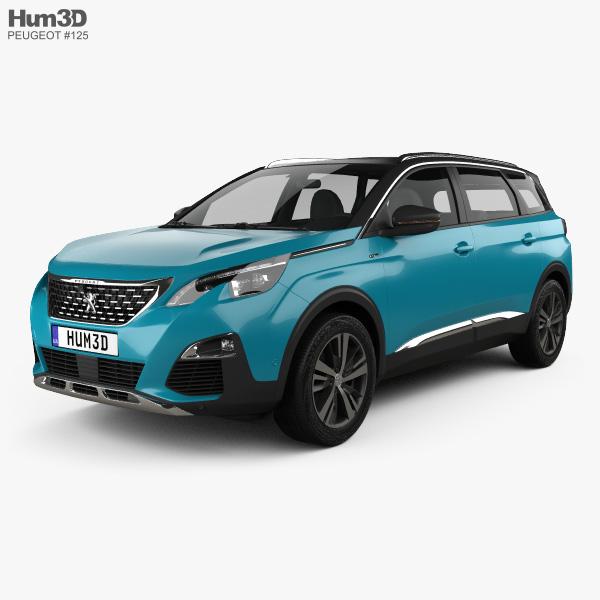 Peugeot 5008 2018 3D model