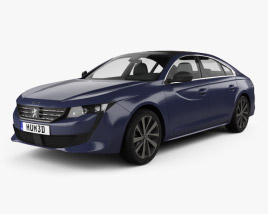 3D model of Peugeot 508 liftback 2018