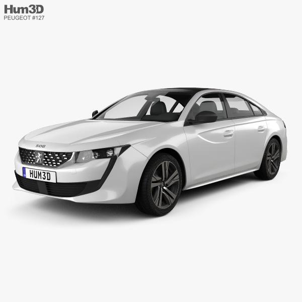 Peugeot 508 liftback GT-line 2018 3D model