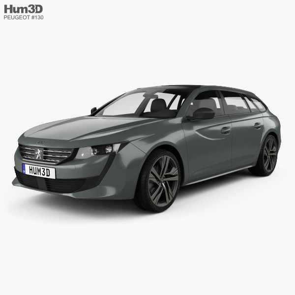 3D model of Peugeot 508 SW GT 2018