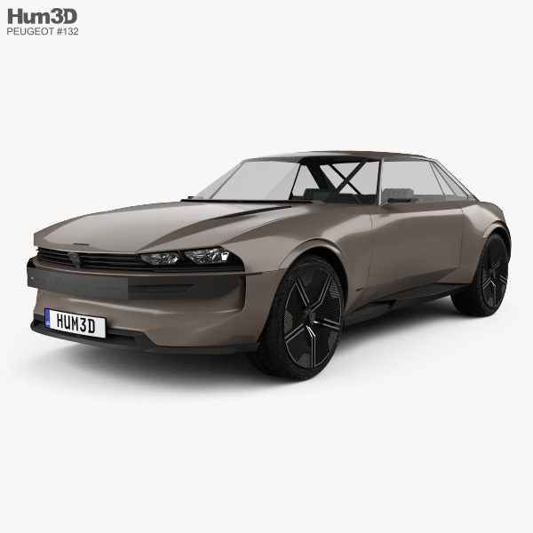 3D model of Peugeot e-Legend 2018