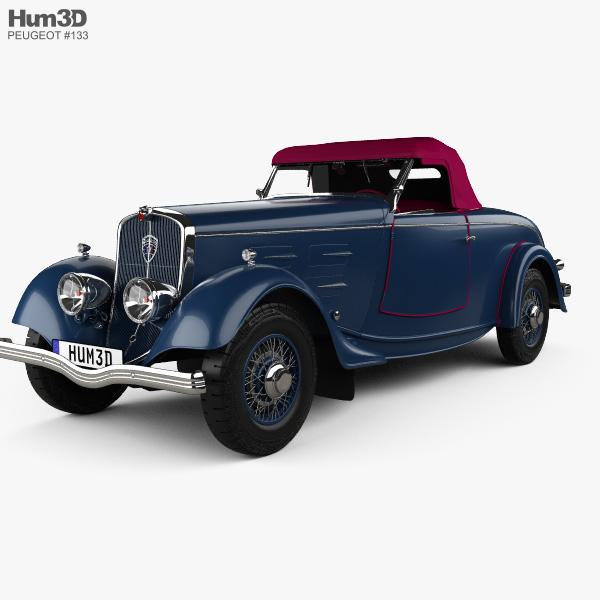 3D model of Peugeot 601 Roadster 1934