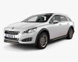 3D model of Peugeot 508 RXH with HQ interior 2012