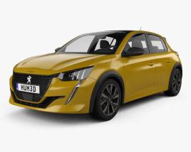 Peugeot 208 GT-Line 2019 3D model