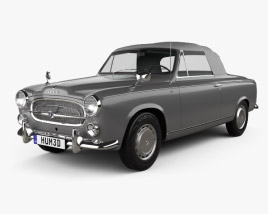 3D model of Peugeot 403 convertible 1959