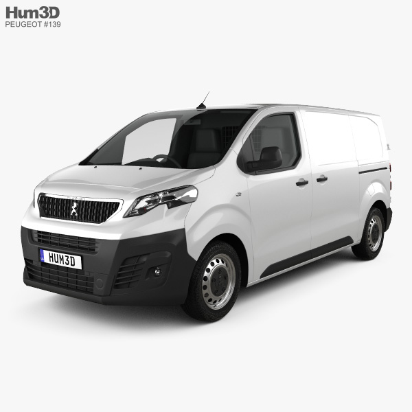 3D model of Peugeot Expert Panel Van L2 2019