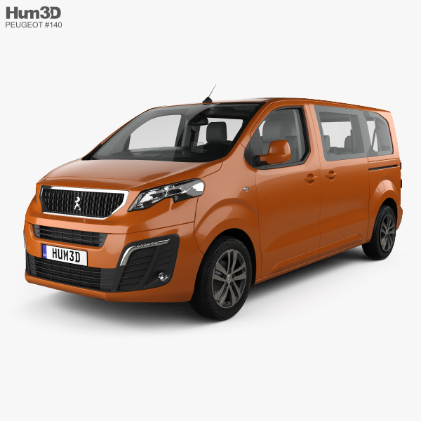 Peugeot Traveller Allure with HQ interior 2016 3D model