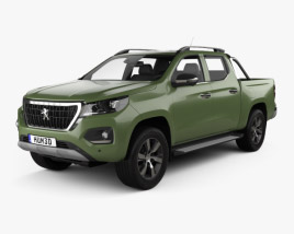 3D model of Peugeot Landtrek Double Cab Multi purpose 2020