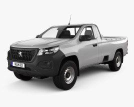 3D model of Peugeot Landtrek Single Cab Work horse 2020