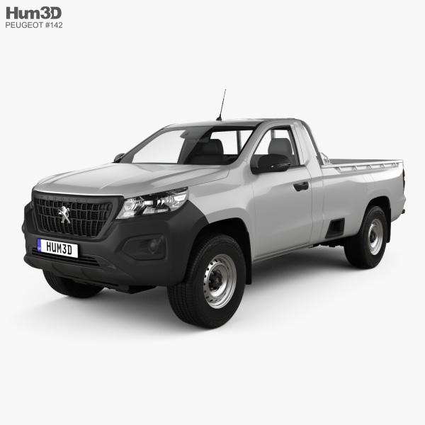 3D model of Peugeot Landtrek Single Cab Work horse 2020