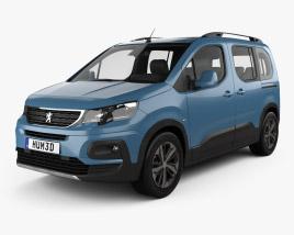 3D model of Peugeot Rifter 2018
