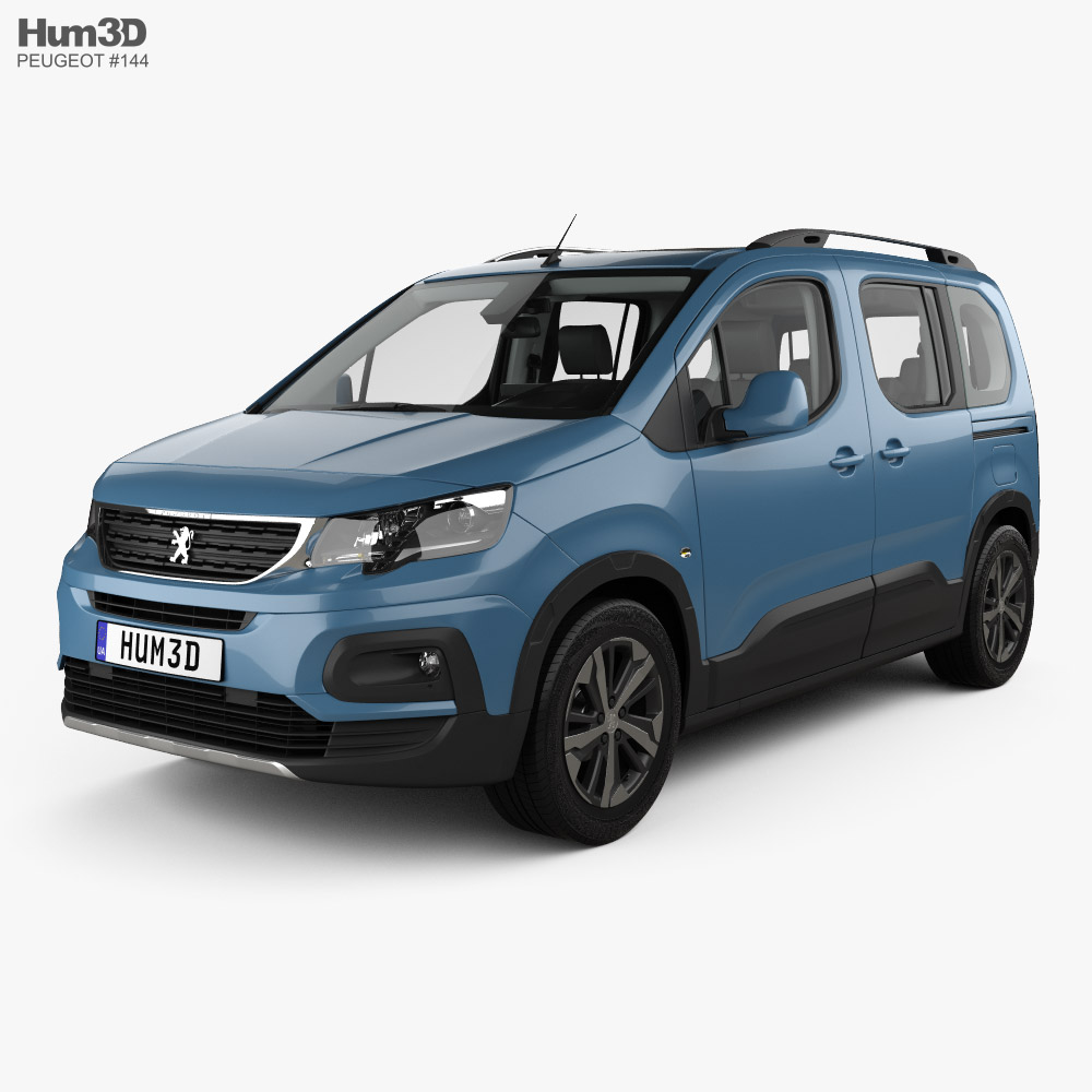 3D model of Peugeot Rifter with HQ interior 2018