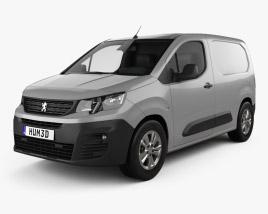 3D model of Peugeot Partner 2019