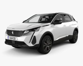 Peugeot 3008 hybrid4 with HQ interior 2020 3D model