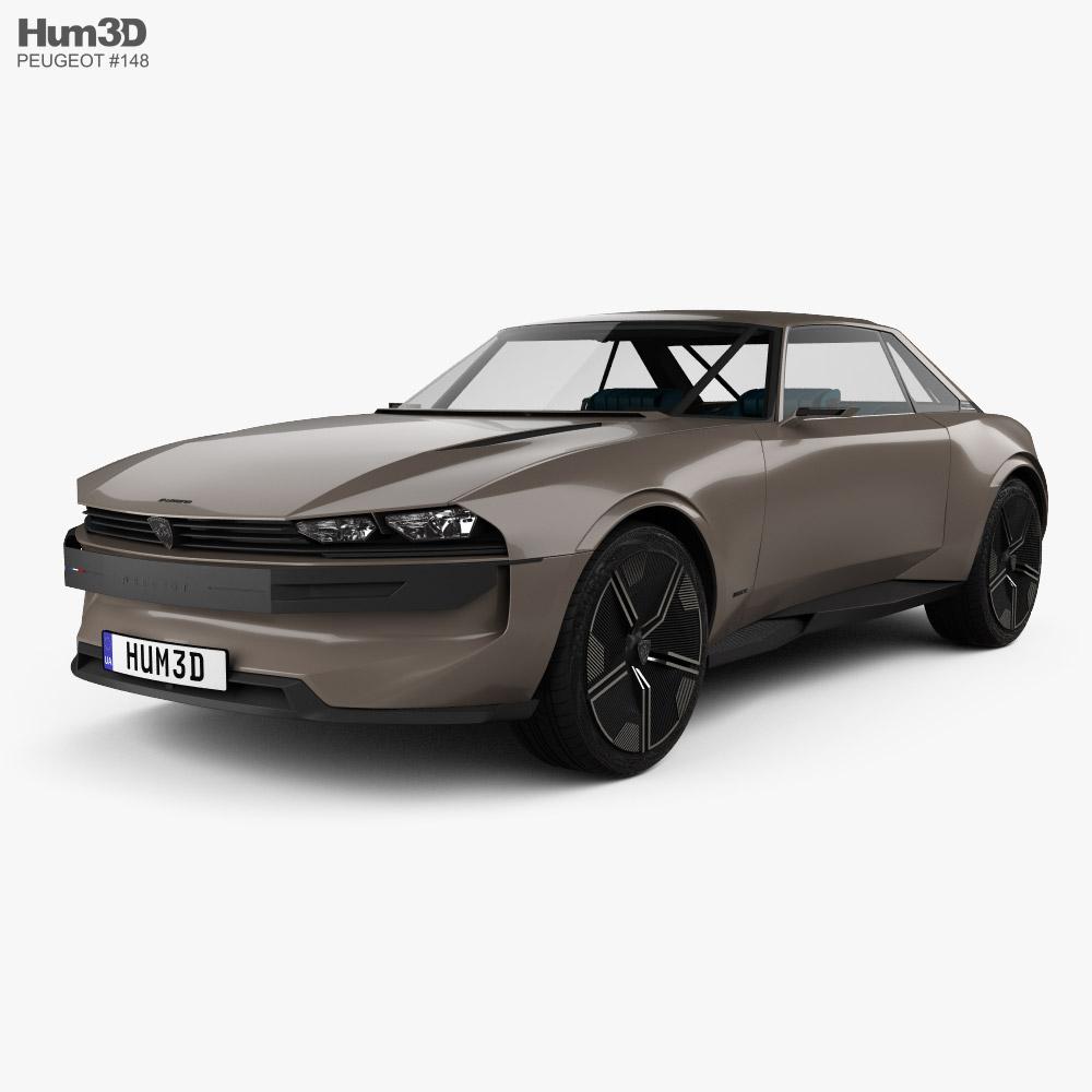 Peugeot e-Legend with HQ interior 2018 3D model