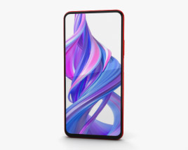 Honor 9X Charm Red 3D model