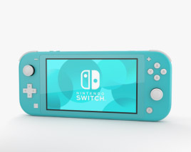3D model of Nintendo Switch Lite Turquoise