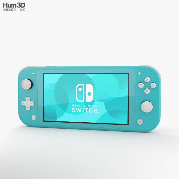 Nintendo Switch Lite Turquoise 3D model