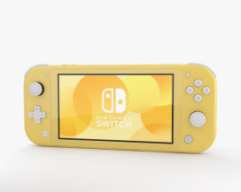 3D model of Nintendo Switch Lite Yellow