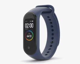 3D model of Xiaomi Mi Band 4 Deep Blue