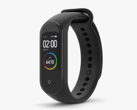 3D model of Xiaomi Mi Band 4 Graphite Black