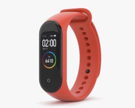 3D model of Xiaomi Mi Band 4 Hot Orange