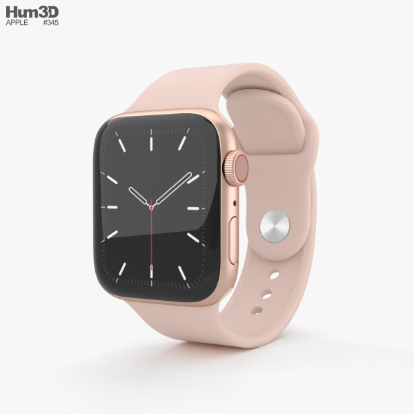 Apple Watch Series 5 40mm Gold Aluminum Case with Sport Band 3D model