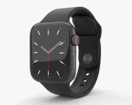 3D model of Apple Watch Series 5 40mm Space Gray Aluminum Case with Sport Band