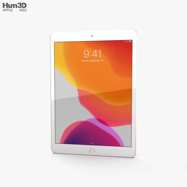 Apple iPad 10.2 Cellular Gold 3D model