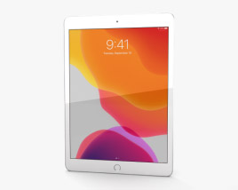 Apple iPad 10.2 Cellular Silver 3D model