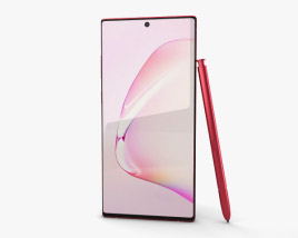 3D model of Samsung Galaxy Note10 Aura Red