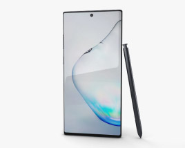 3D model of Samsung Galaxy Note10 Plus Aura Black