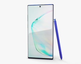 3D model of Samsung Galaxy Note10 Plus Aura Blue