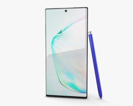 3D model of Samsung Galaxy Note10 Plus Aura Glow