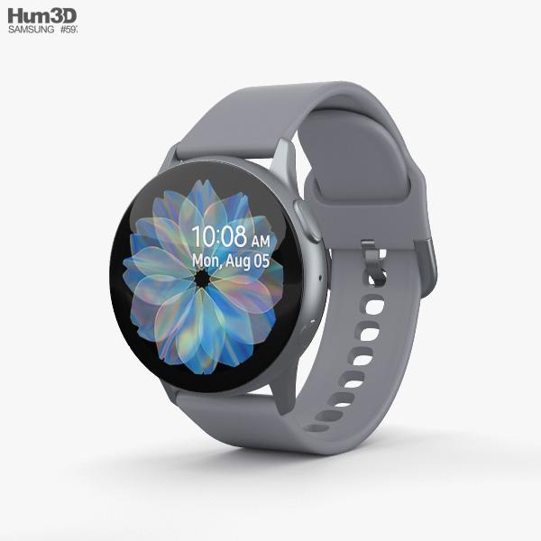 Samsung Galaxy Watch Active 2 40mm Aluminium Cloud Silver 3D model