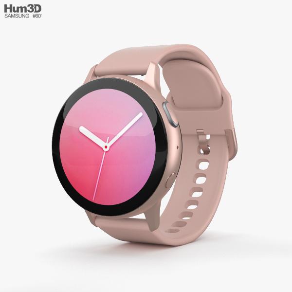 Samsung Galaxy Watch Active 2 44mm Aluminium Pink Gold 3D model